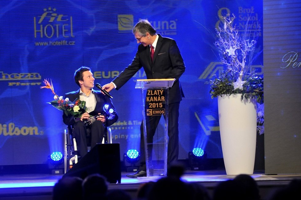 Zlatý kanár 2015 - Nejlepší tenista na vozíčku Petr Utíkal a Petr Vichnar