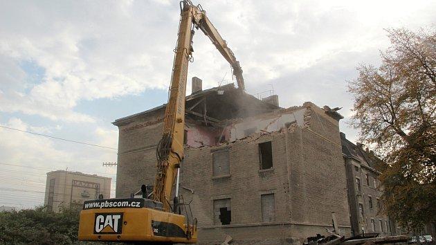 Demolice domu v Kojetínské ulici v Přerově - 18. 10. 2018
