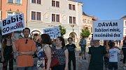 Demonstrace proti Andreji Babišovi na náměstí T. G. Masaryka v Přerově - 11. 6. 2019