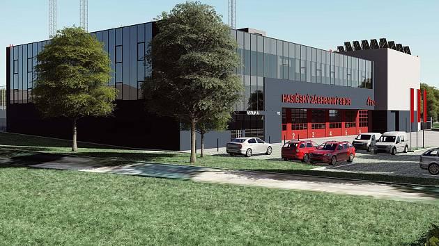 Tak by měla vypadat nová hasičská zbrojnice, která vyroste v ulici 9. května v Přerově.