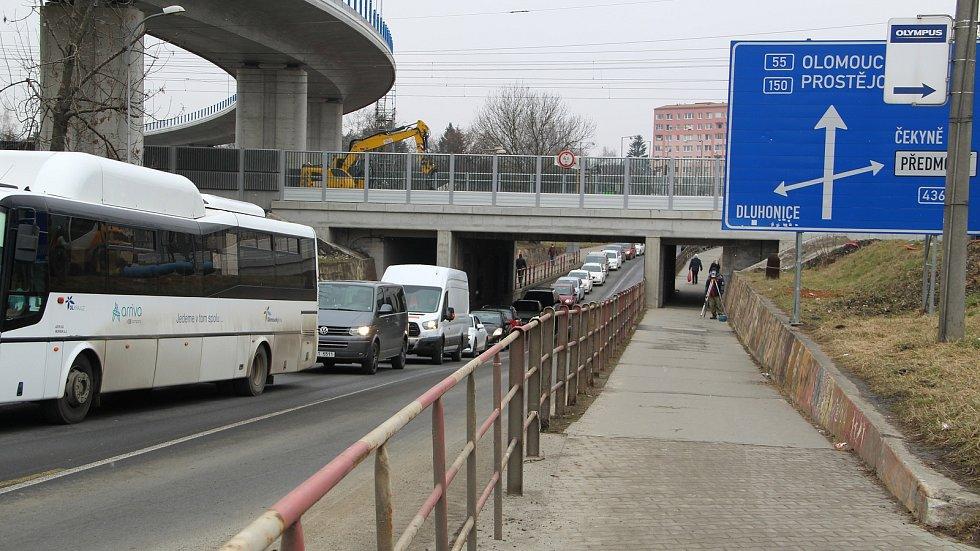 Kolony v Předmostí na příjezdu od Olomouce, 8. března 2021