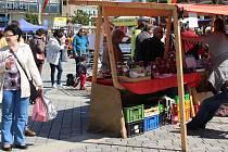 Farmářské trhy na náměstí TGM v Přerově