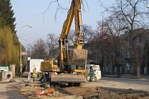 Rekonstrukce kanalizace v Dvořákově ulici