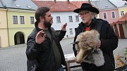 Juraj Jakubisko na Horním náměstí v Přerově