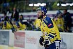 Hokejisté Přerova (ve žlutém) proti Sokolovu. Michal Popelka