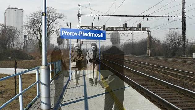 Vizualizace zastávky vlaku v Předmostí.