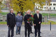 Den vzniku samostatného Československa si v Přerově připomněli hned na dvou místech – na Masarykově náměstí a u pomníku legionáře Jana Gayera.