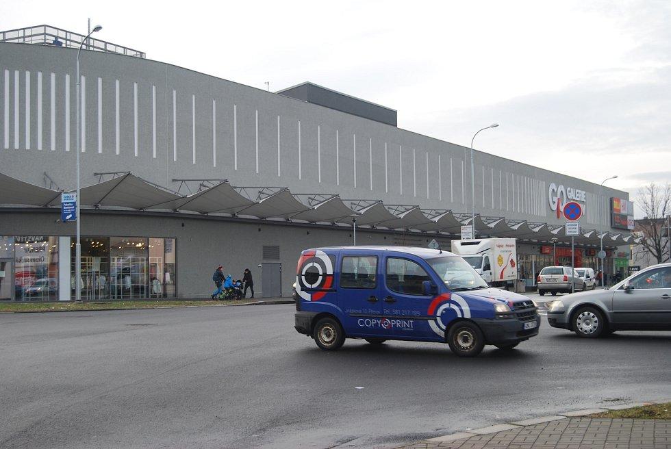 Doprava u nákupní galerie v Přerově