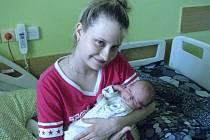 Daniel Králík, Hranice, narozen 21. června vOlomouci, míra 49 cm, váha 3020 g