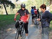 Cyklisté v Přerově. Ilustrační foto