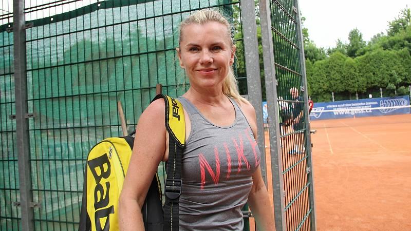 Leona Machálková. Tenisová akademie Petra Huťky Acuna cup v Přerově. Červen 2021