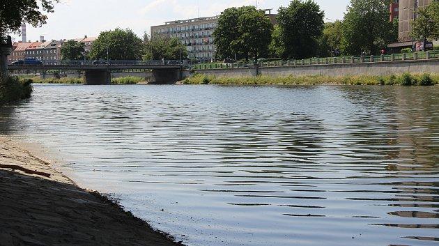 Hladina řeky Bečvy v Dluhonicích v těchto dnech dosáhla výšky jednoho metru a pokořila hranici sucha, podobně jaké jiné vodní toky na Přerovsku.