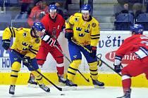 Hokejová reprezentace do 20 let v zápase se Švédském v Přerově