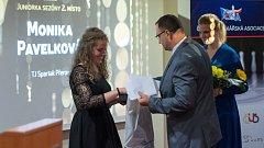 Přerovský hotel Jana hostil galavečer ankety Kuželkář sezony 2017/2018. Monika Pavelková