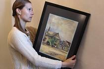 Obrazy Karla Tomana ukazují, jak vypadala obec Dřevohostice ve 30. letech