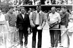 Slavnostní otevření koupaliště vRadslavicích vroce 1977.