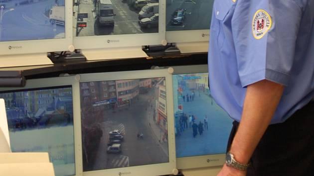 Kamery městské policie v Přerově sledují dění v ulicích. Ilustrační foto