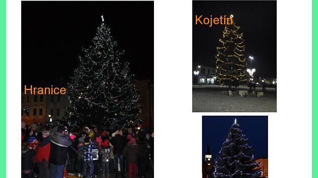 Vítězové okresního kola o nejhezčí vánoční strom