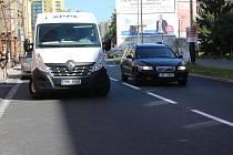 Palackého ulice v Přerově rozdělil pruh, bude obousměrná