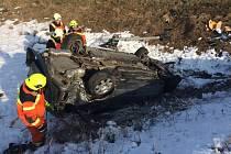 U srážky vlaku a osobního auta u Kojetína na Přerovsku asistovali hasiči. Jednoho raněného transportovalo letadlo do olomoucké nemocnice.