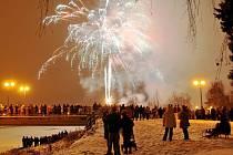 Novoroční ohňostroj v Přerově 2016