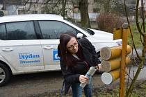 Noviny čtenářům Přerovského a hranického deníku roznáší denně také šéfredaktorka Liba Mátlová.