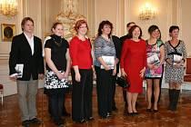 Finalisty ankety Zlatý Ámos přivítala na pražském Hradě první dáma Livia Klausová