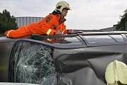 Hasičská soutěž ve vyprošťování zraněných osob z havarovaných vozidel v Přerově