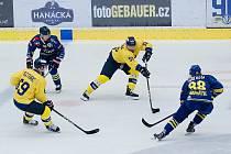 Hokejisté Přerova (v modrém) v přípravném Zubr Cupu proti Zlínu