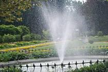 Vodotrysk v parku Michalov