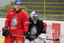 David Šťastný na kempu reprezentace v Přerově