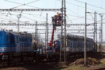 Práce na modernizace železniční tratě v Prosenicích