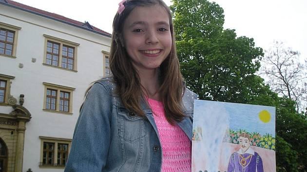Karel starší ze Žerotína očima dětí – taková bude výstava, kterou můžou od 12. května spatřit návštěvníci Výstavní síně Pasáž v Kratochvílově ulici v Přerově. (Na snímku autorka jedné z prací Martina Lenochová).