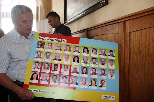 Hnutí Starostové a nezávislí představilo ve středu svou kandidátní listinu pro nadcházející komunální volby v Přerově. Jejím lídrem je bývalý ministr dopravy Antonín Prachař.