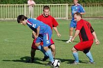 Hokejoví Zubři proti 1. FC Přerov