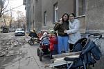Škodova ulice v Přerově v lednu 2008