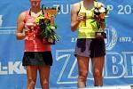 Finalistky Zubr Cupu 2013.  Zleva Réka-Luca Janiová a Jekatěrina Alexandrová