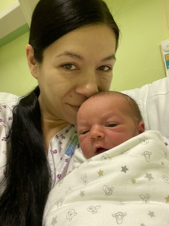 Prvním miminkem, které se narodilo v přerovské porodnici na Nový rok, je malý Ondra.