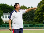 Fotbalisté 1. FC Viktorie Přerov v přípravném zápase s FK Bystřice pod Hostýnem.