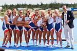 Přerovští veslaři Valentýna Kolářová, Kateřina Pivková a Tomáš Šišma dovezli tři zlaté medaile z juniorského mistrovství světa 2018 v Račicích