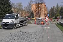 Stavební práce v Kabelíkově ulici v Přerově