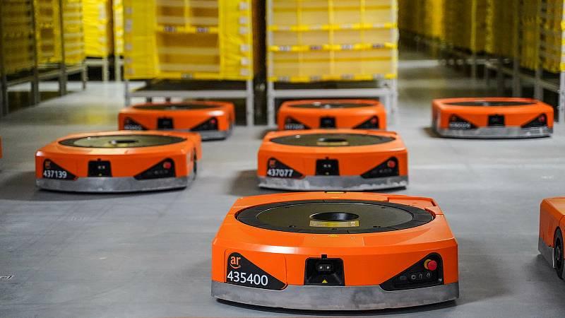 V Kojetíně vznikne nové robotické centrum Amazonu. Ilustrační foto.