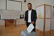 Eurovolby 2019: volební okrsky v budově Vysoké školy logistiky v Přerově