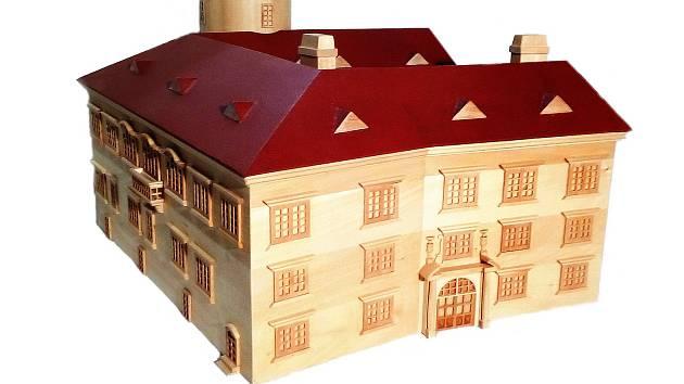 Haptický model přerovského zámku, který ocení hlavně nevidomí návštěvníci Muzea Komenského v Přerově.