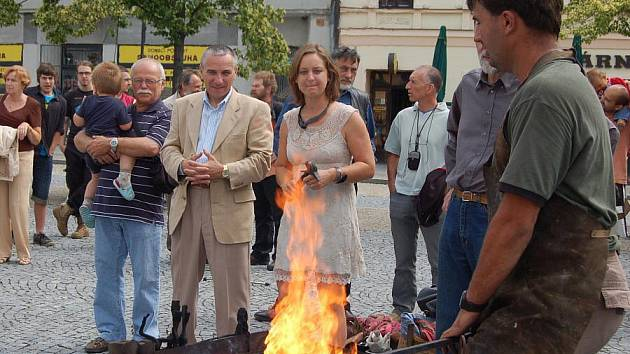 Vernisáž expozice Kov ve městě, Lipník nad Bečvou