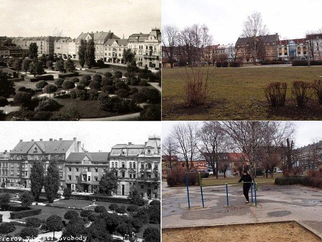 Náměstí Svobody v Přerově v minulosti a dnes