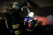 Požár skládky odpadu u Lipníku nad Bečvou