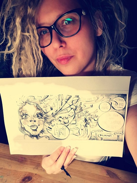 Originální výtvarnice a přerovská rodačka Věrka Vybíralová vytvořila komiksové stripy pro České centrum v New Yorku.