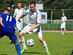 Fotbalisté Viktorie Přerov (v bílé). Ilustrační foto