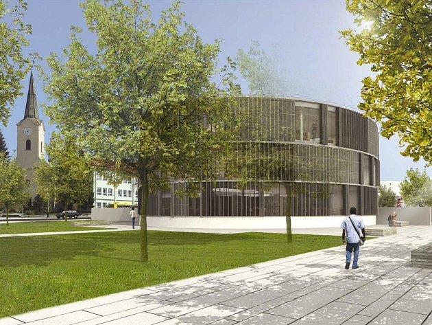 Návrh podoby nové knihovny v Přerově od Jana Přehnala